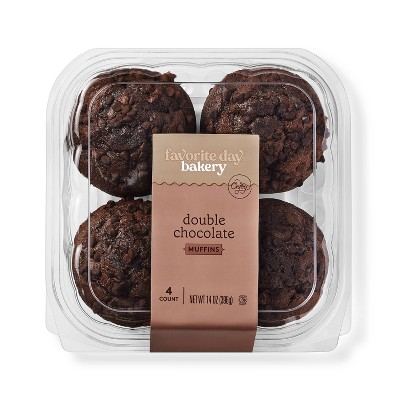Double Chocolate Muffins - 4ct - Favorite Day™