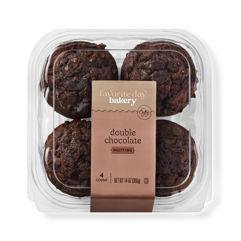 Double Chocolate Muffins - 4ct - Favorite Day™ - image 1 of 3