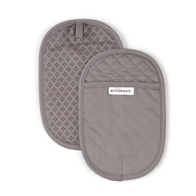 KitchenAid 2pk Cotton Asteroid Pot Holders Gray
