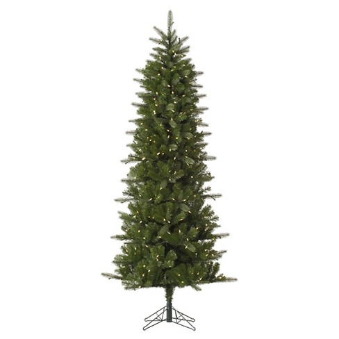 new product f3040 8fbdd 6.5ft Pre-Lit Artificial Christmas Tree Slim Spruce - White LED Lights