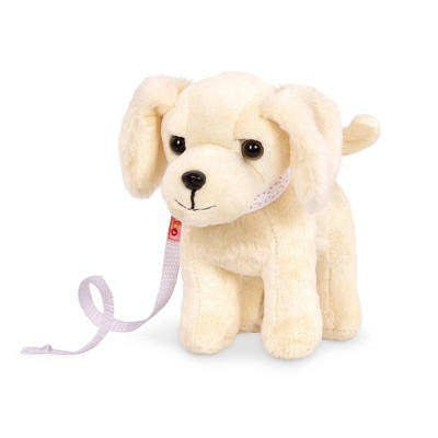 Our Generation Pet Dog Plush with Posable Legs - Golden Retriever Pup