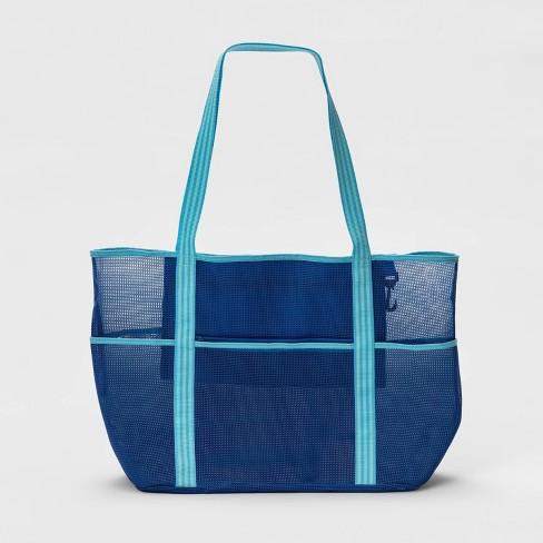 Beach Bag Blue - Sun Squad™ - image 1 of 4