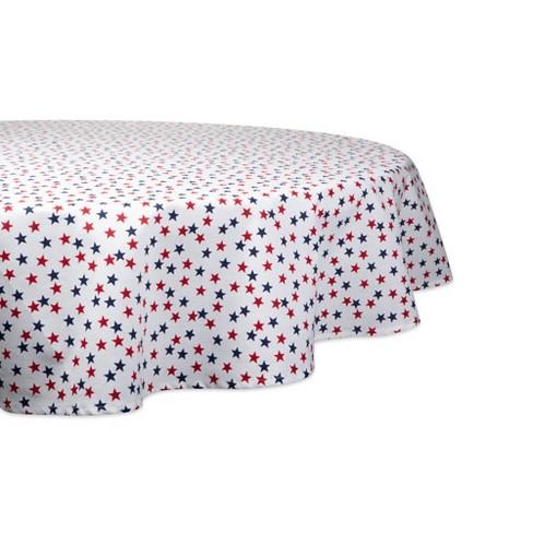 Americana Stars Print Tablecloth - Design Imports - image 1 of 2