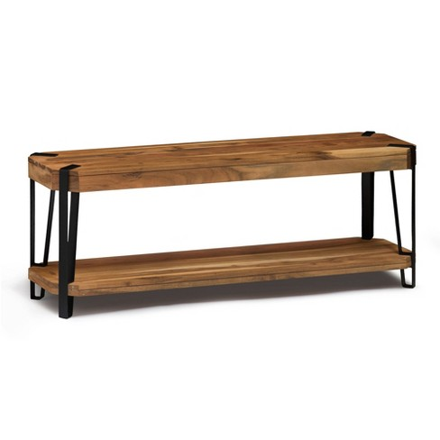 Amazing Alaterre Furniture 48 Ryegate Natural Brown Live Edge Solid Wood Bench Metal And Wood Gmtry Best Dining Table And Chair Ideas Images Gmtryco