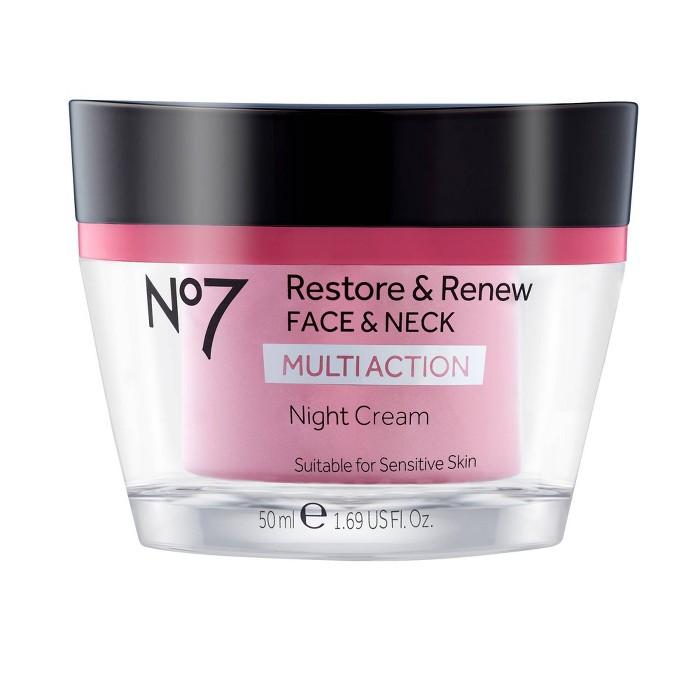 No7 Restore & Renew Face & Neck Multi Action Night Cream : Target