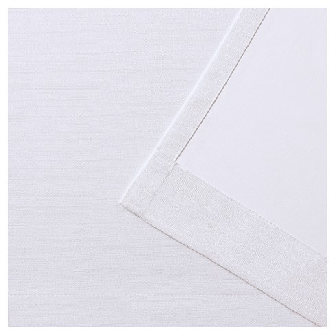 Raw Silk Thermal Room Darkening Window Curtain Panel Pair Off White 54 X96 Exclusive Home Target