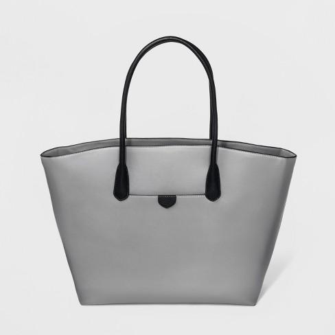 Winged Tote Handbag - A New Day™ Gray - image 1 of 3