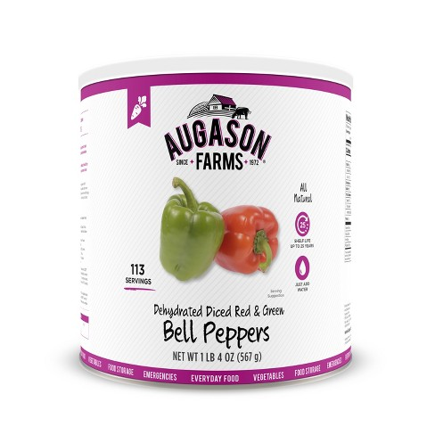 Augason Farms Gluten Free Dehydrated Diced Red & Green Bell Peppers - 20oz - image 1 of 6