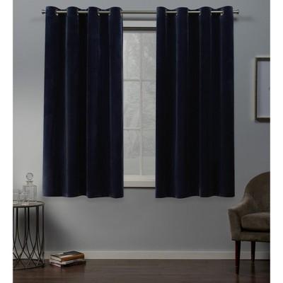 Exclusive Home Velvet Heavyweight Grommet Top Window Curtain Panel Pair Target