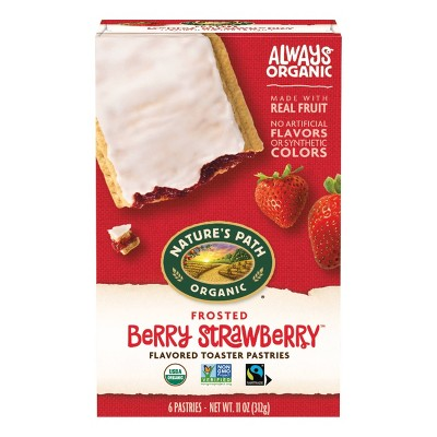 Nature's Path Organic Toaster Pastries Frosted Berry Strawberry - 6ct