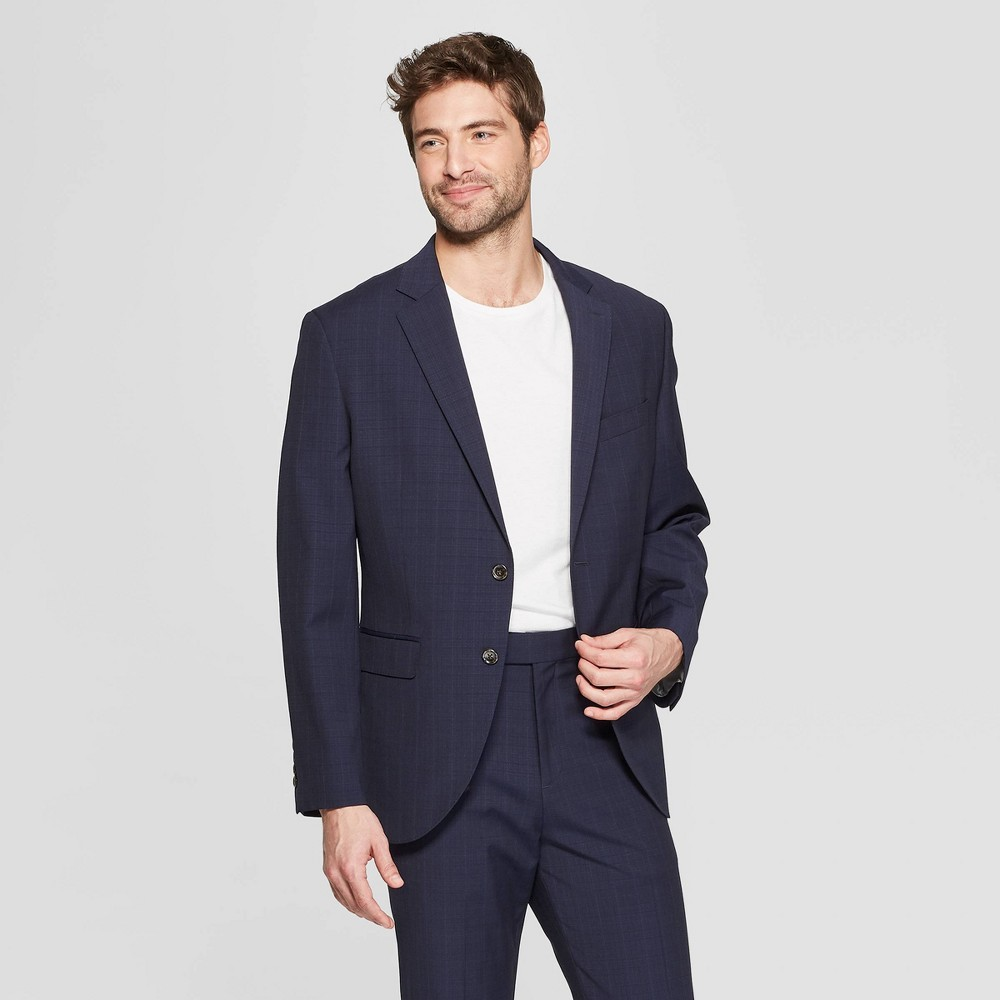 Men's Standard Fit Suit Jacket - Goodfellow & Co Navy Voyage 42S
