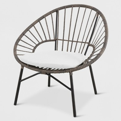 Wicker Stack Egg Chair Brown/Off-White - Opalhouse™