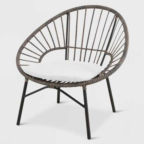 Wicker Stack Egg Chair Brown/Off-White - Opalhouse™ - image 1 of 1