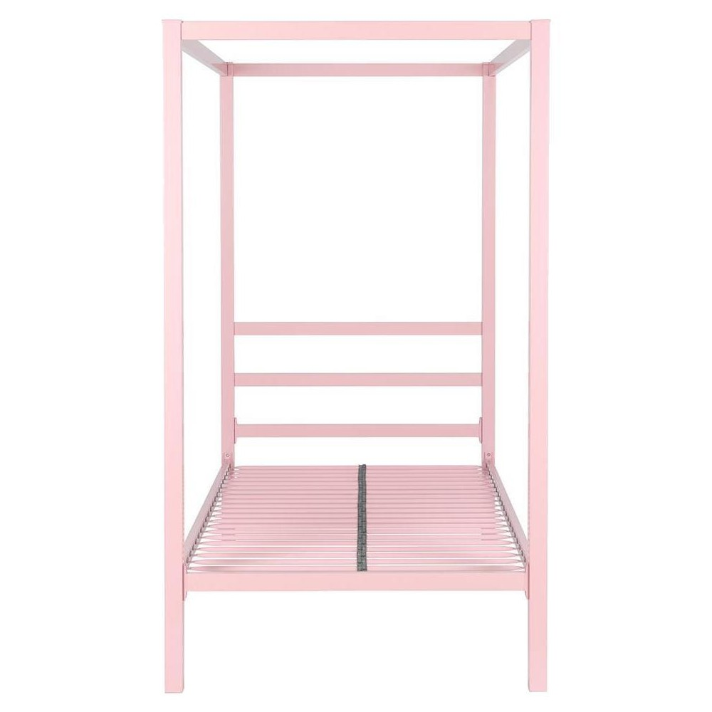 Twin Briella Metal Canopy Bed Pink - Room & Joy