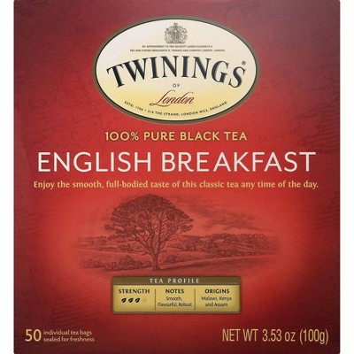 Twinings Classics Naturally English Breakfast Tea - 50ct