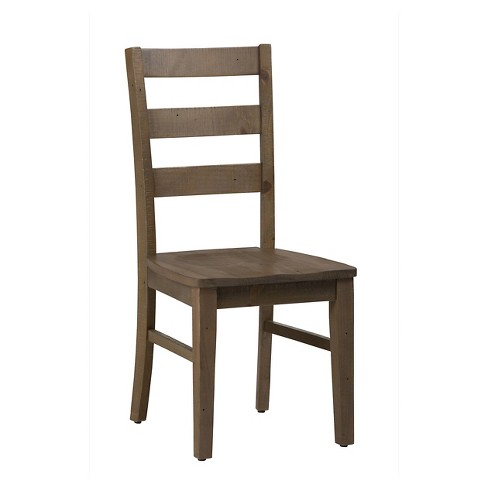 Slater Mill Ladder Back Dining Chair Wood/Light Brown (Set ...