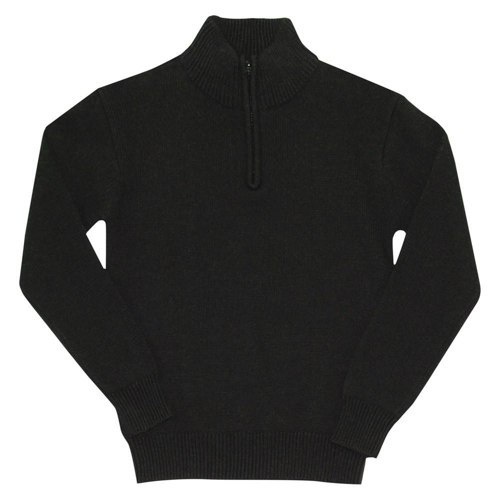 Eddie Bauer Boys' Half Zip Sweater 8 - Black