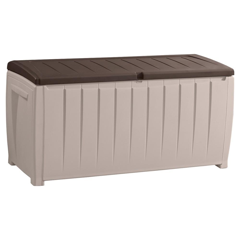 Novel 90 Gallon Outdoor Storage Box - Beige/Brown - Keter