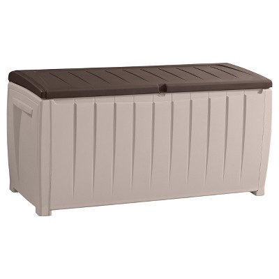 Novel 90 Gallon Outdoor Storage Box   Beige/Brown   Keter