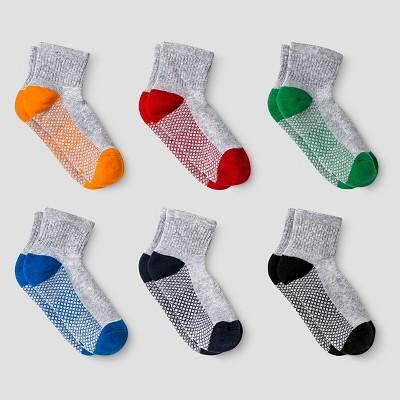 Boys' 6pk Athletic Ankle Socks - Cat & Jack™ Gray