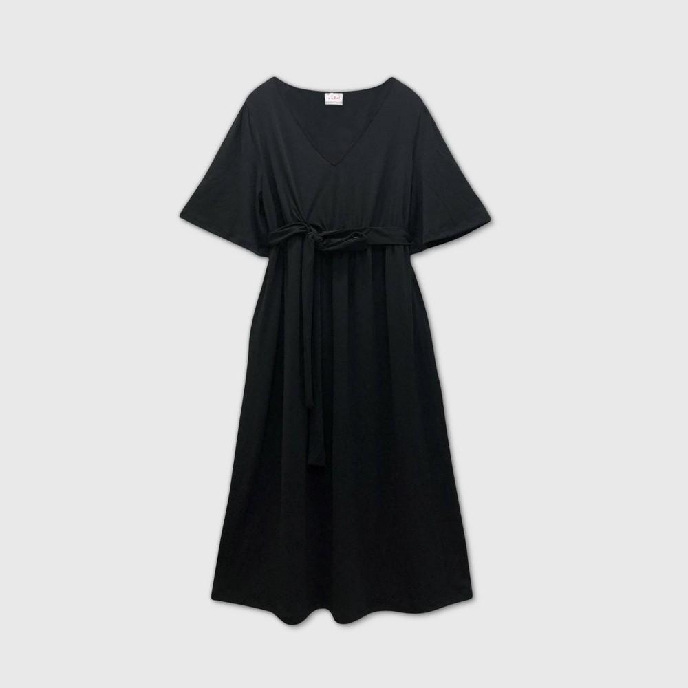 Flutter Short Sleeve Maternity Dress Isabel Maternity By Ingrid 38 Isabel 8482 Black Xxl