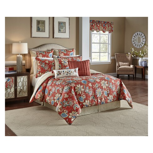 Brighton Blossom Reversible Comforter Set Queen 4pc Waverly