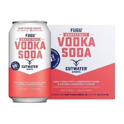 Cutwater Fugu Grapefruit Vodka Soda Cocktail - 4pk/12 fl oz Cans