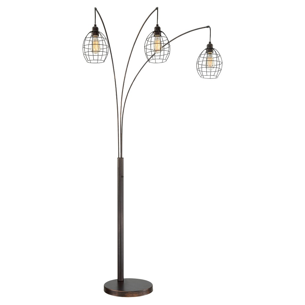 Kaden 3 Light Floor Lamp Copper Bronze (Includes Energy Efficient Light Bulb) - Lite Source