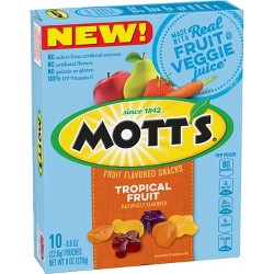 Mott's Tropical Fruit Naturally Fruit Flavored Snack - 8oz