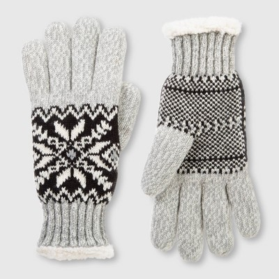 Isotoner Women's SmartDRI Knit Snowflake Gloves