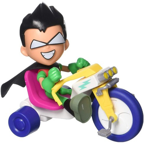Teen Titans Go! Movie Face-Swappers Robin and Time Cycle Action Figure and Vehicle - image 1 of 4