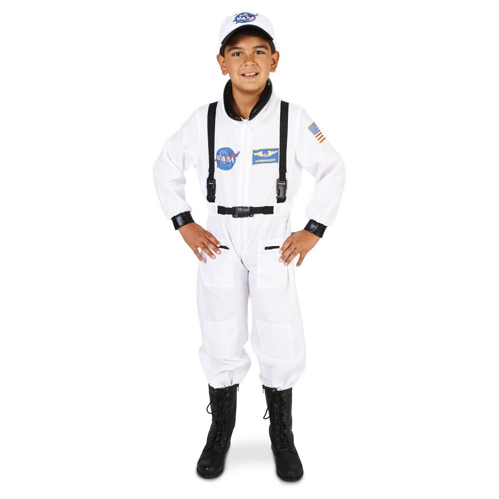 Image of Halloween Kids' Astronaut Suit Costume L(12-14), Adult Unisex, Size: Large(12-14), White