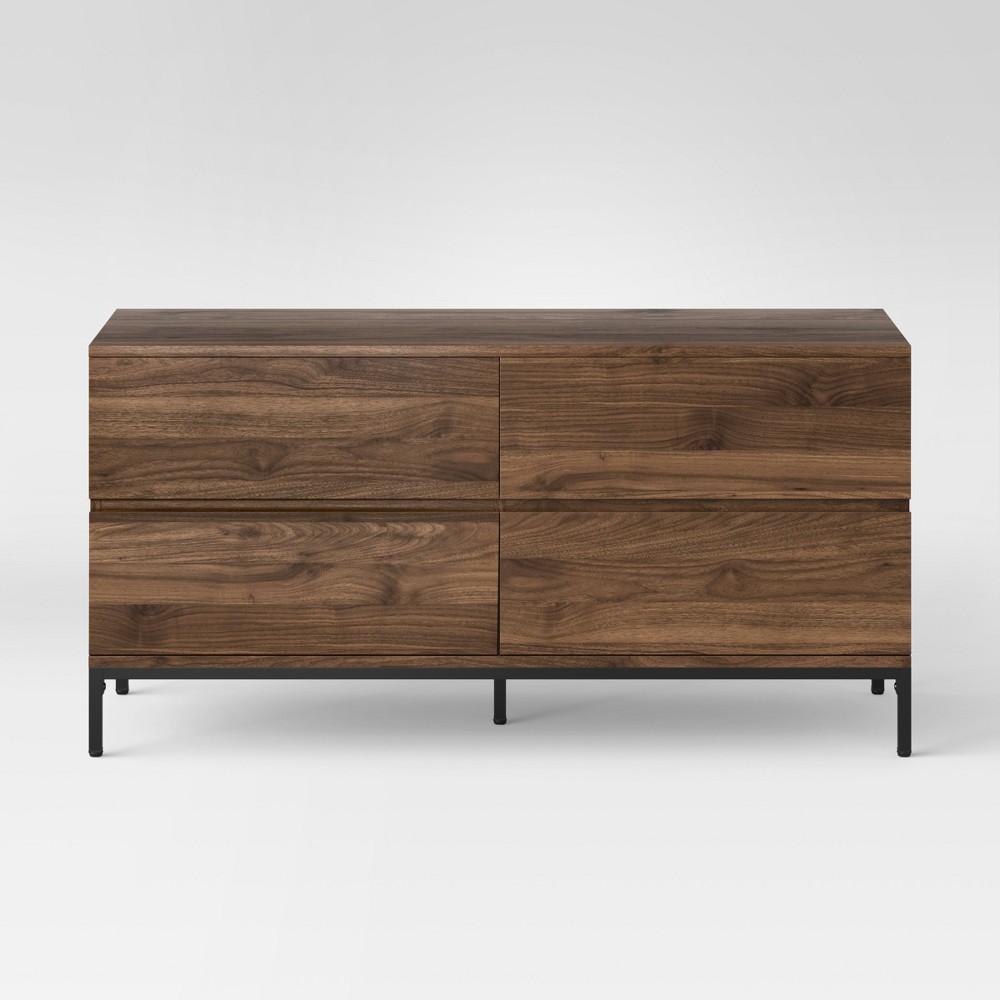 Loring 4 Drawer Dresser Walnut (Brown) - Project 62