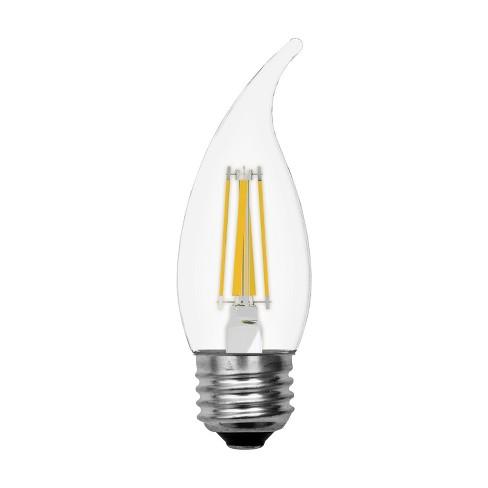 Ge Led 60watt Decorative Cam Light Bulb 2pk Soft White Clear