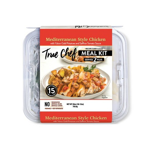 True Chef Mediterranean Style Chicken Meal Kit - Serves 2 - 28oz - image 1 of 2