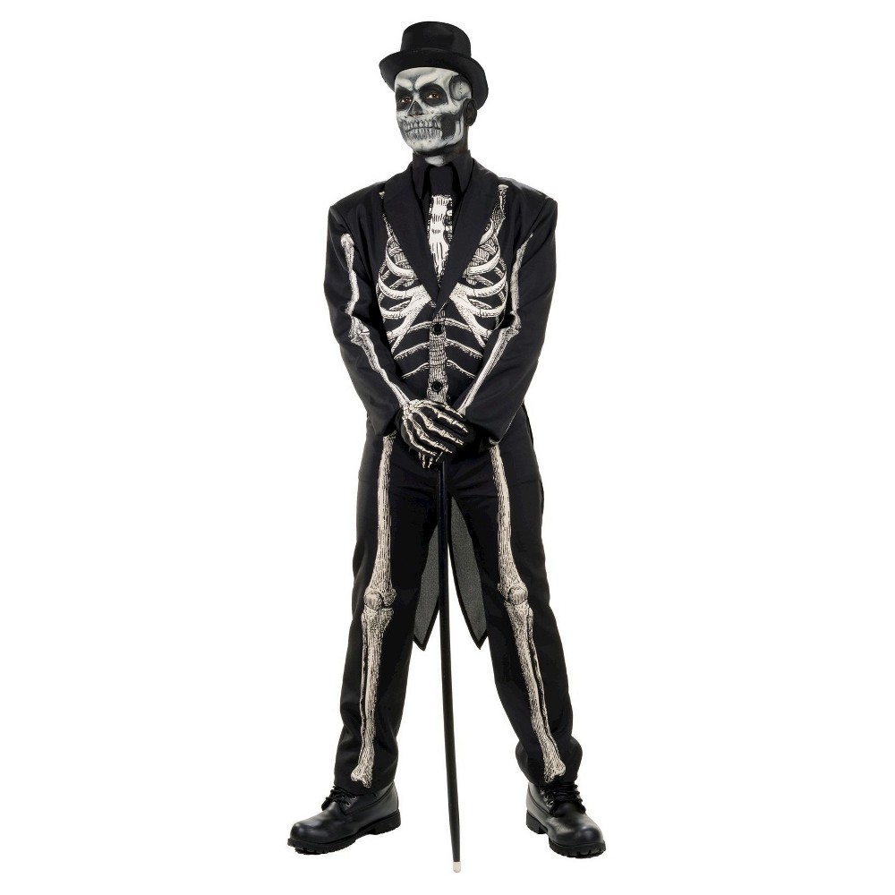 Men's Bone Chillin' Skeleton Adult Suit Costume - One Size, Multi-Colored
