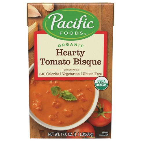 Pacific Foods Organic Gluten Free Hearty Tomato Bisque - 17.6oz - image 1 of 4