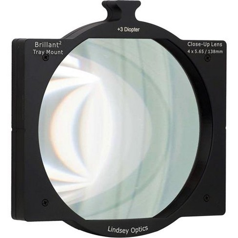 Lindsey Optics 4x5.65  Brilliant2 Tray Mount +3 Diopter Close-Up Lens - image 1 of 1