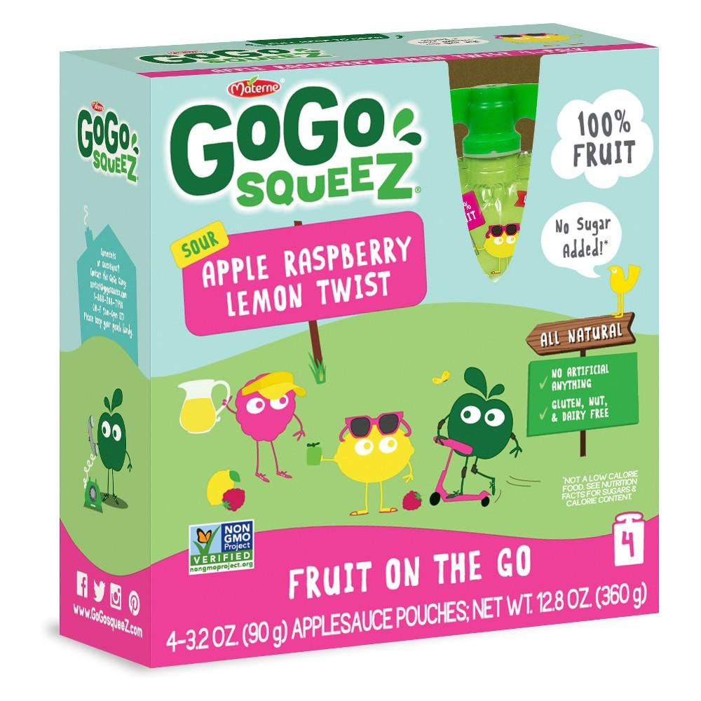 Gogo Squeez Sour Apple Raspberry Lemon Twist Applesauce O...