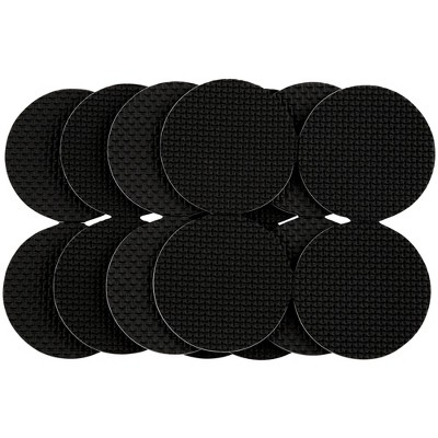 "SoftTouch 2"" 16pk Heavy Duty Non Slip Furniture Gripper Pad Black"