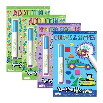 4ct Educational Coloring Book & Marker - Bullseye's Playground™ : Target
