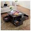 Campfield Modern Tiered Design Coffee Table Espresso - ioHOMES - image 3 of 4
