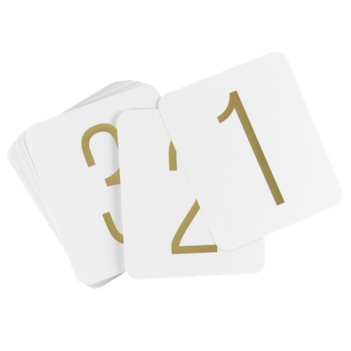 Gold Foil Table Numbers (1-40)