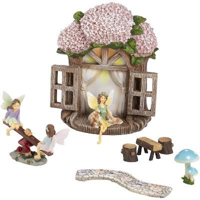 Juvale 7 Pieces Garden Fairy Figurines, Whimsical Décor