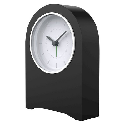 Quartz Dial Mantle Alarm Clock Black - Capello®