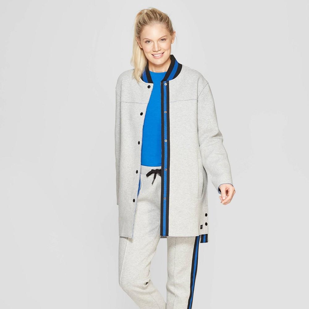 Mpg Sport Women's Tech Fleece Jacket Light Grey Heather M, Gray