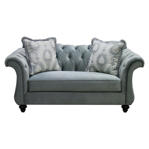 Alexandria Victorian Style Love Seat Gray Furniture Of America Target