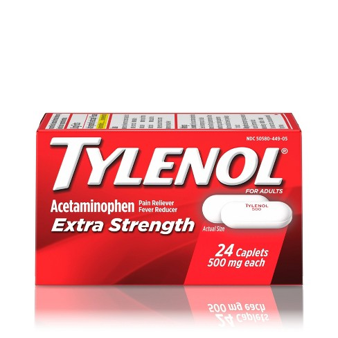 Tylenol Extra Strength Pain Reliever and Fever Reducer Caplets - Acetaminophen - image 1 of 9