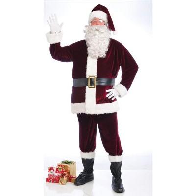 Crimson Velvet Santa Suit Costume Adult