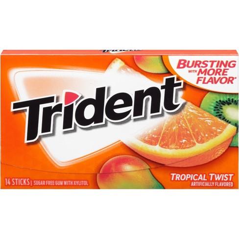 Trident Tropical Twist Sugar Free Gum 095oz Target